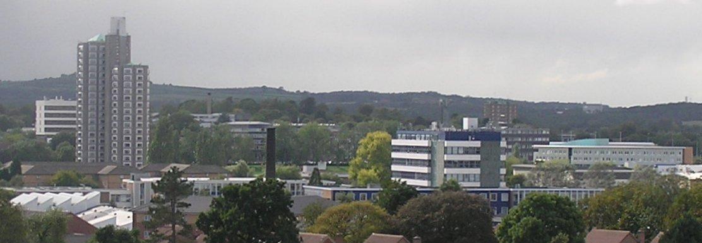 从Carillon塔上眺望到的拉夫堡大学