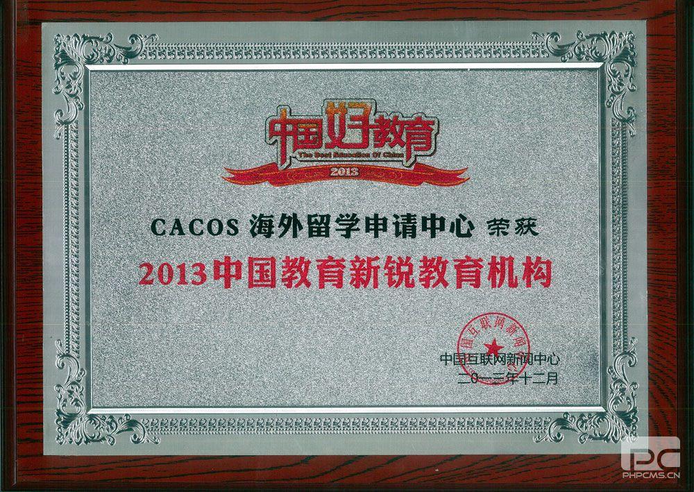 易申网荣获2013中国教育新锐教育机构