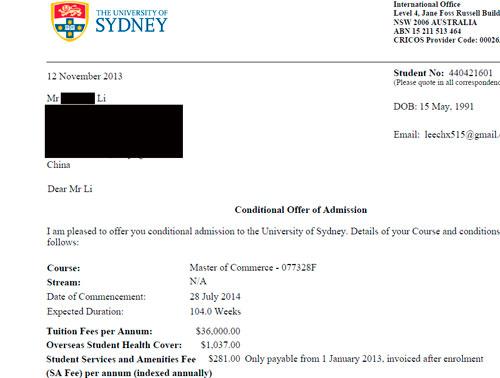 航运专业生通过易申网顺利就读墨尔本悉尼商科硕士
