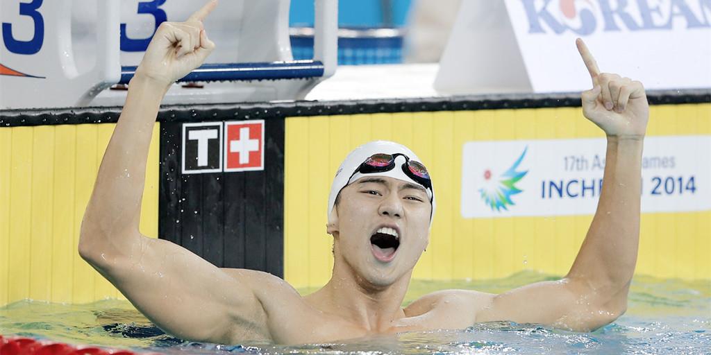 世锦赛宁泽涛夺冠 亚军澳大利亚选手表情亮瞎
