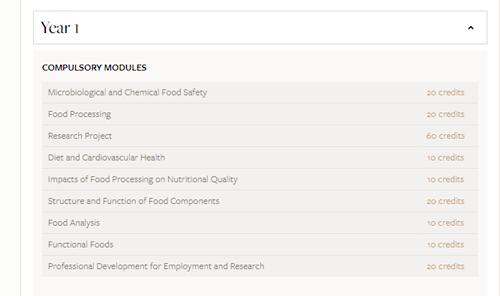 利兹大学,食品工程专业