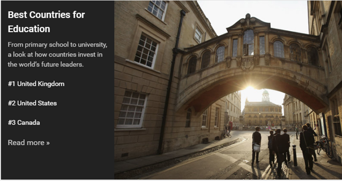 教育排名英国夺冠,留学英国优势很大