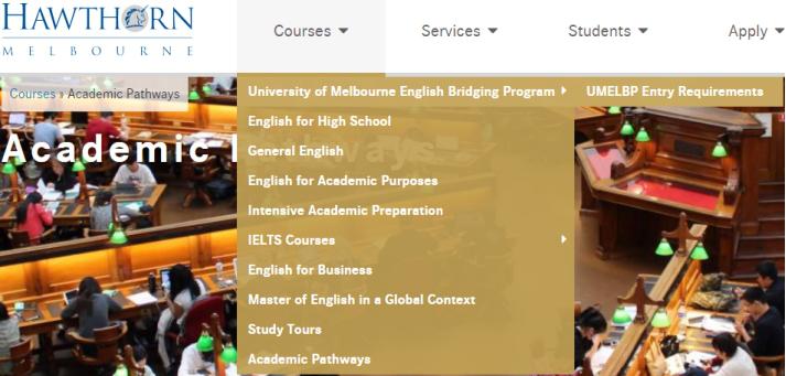 墨大语言班,非语言直升班,墨尔本大学申请
