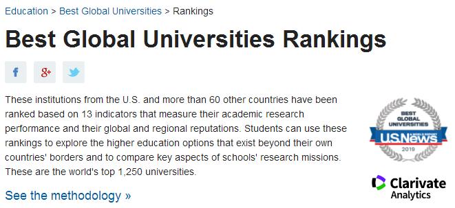 这么多的大学排名,到底该相信哪个?