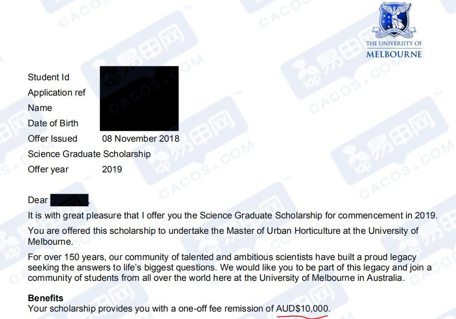 墨尔本大学发10000澳币奖学金,堪培拉大学表示:我跟了,所有专业都有份!