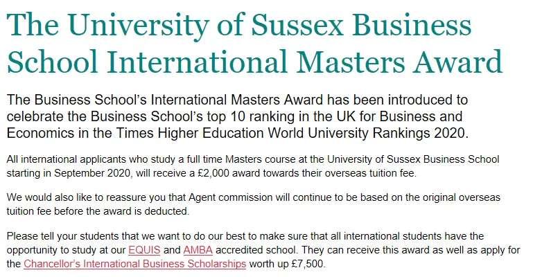 每人减免£2000,还能再拿£7,500,这所大学发起奖学金这么疯狂?!
